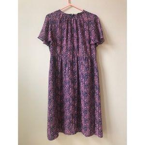 50s 60s pattern summer violet dress from Tokyo